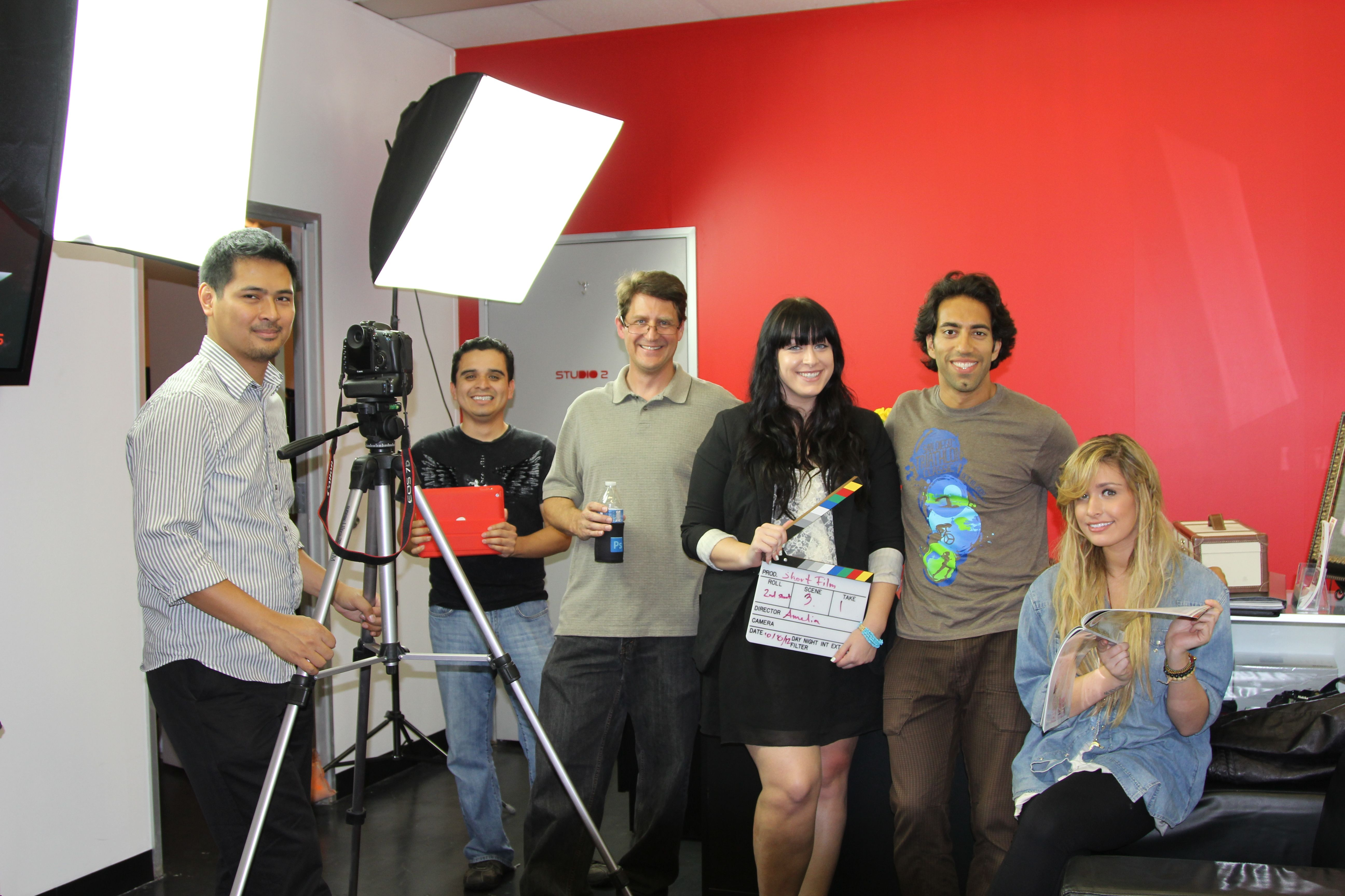 Video Production Crew on Set at iWink Studios